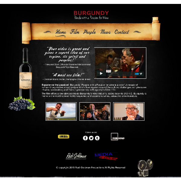 Burgundy People with a Passion for Wine